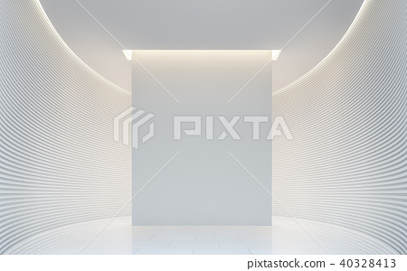 Empty white room modern space interior 3d render 40328413