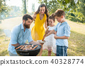 family, barbecue, sausages 40328774