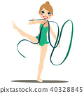 Green Ribbon Gymnastics Woman 40328845