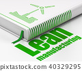 Manufacuring concept: book Windmill, Lean Manufacturing on white background 40329295