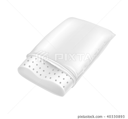 Vector 3d realistic white orthopedic latex pillow 40330893