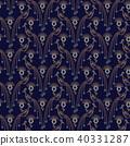 Peacock elegant seamless vector pattern. 40331287