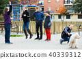 Children playing skipping rope 40339312
