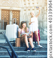 mother, traveling, girl 40339964