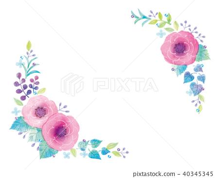 꽃의 일러스트 40345345