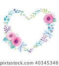 꽃 하트의 일러스트 40345346
