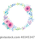 꽃 임대 일러스트 40345347