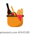 Basket picnic icon 40345385