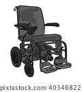 black and white electric wheelchair vector 40346822