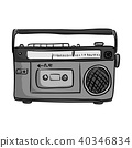 retro classic tape radio player vector 40346834