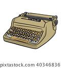 retro typewriter vector illustration sketch  40346836