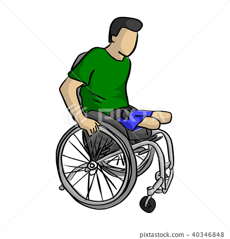 Handicapped man on wheelchair vector 40346848