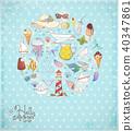 summer, doodle, vector 40347861