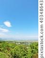 초여름의 푸른 하늘과 신록의 풍경 40348643