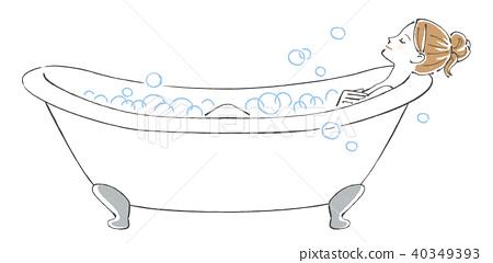 여자 목욕 거품 목욕 40349393