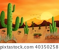 Desert landscape background with cactuses 40350258