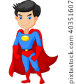 Super hero boy posing 40351607