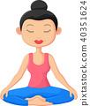 Beautiful woman doing Yoga Meditation 40351624