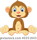 cartoon, cute, monkey 40351643