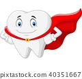 Happy superhero healthy tooth  40351667