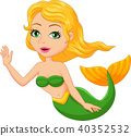 Cute mermaid cartoon 40352532