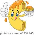 Macaroni and Cheese Cartoon Character 40352545