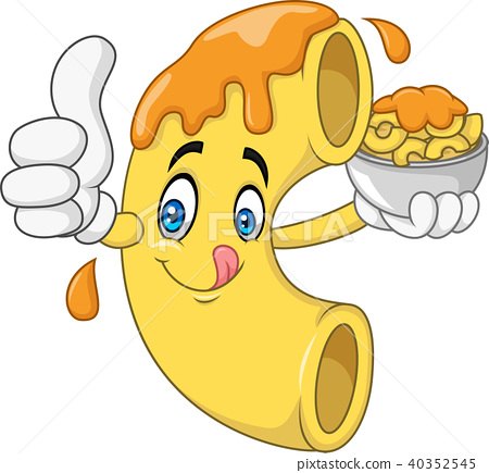 Macaroni and Cheese Cartoon Character 40352545