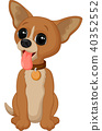 Cartoon chihuahua dog 40352552