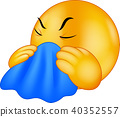 Emoticon smiley coughing 40352557