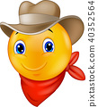cartoon, cowboy, smile 40352564