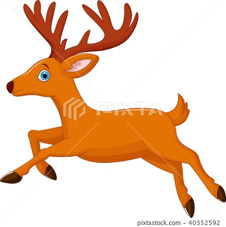 cartoon deer running 40352592