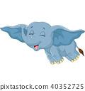 cartoon elephant funny 40352725