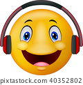 Emoticon with headphones 40352802