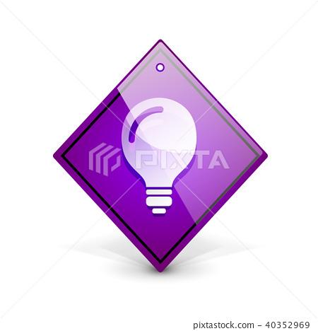 Light bulb, new idea concept web button 40352969