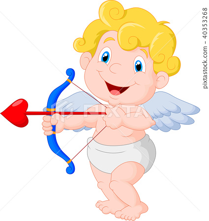 Funny little cupid aiming at someone 40353268
