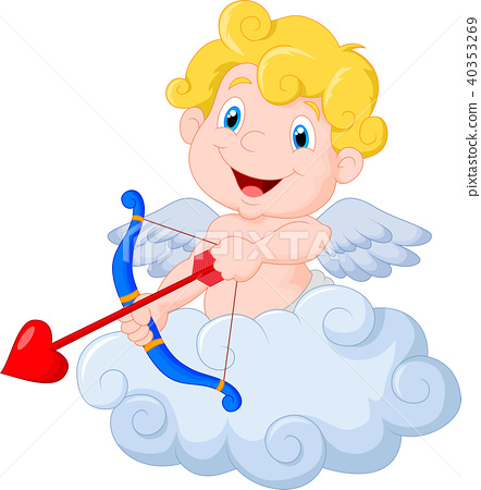 Funny little cupid aiming at someone 40353269