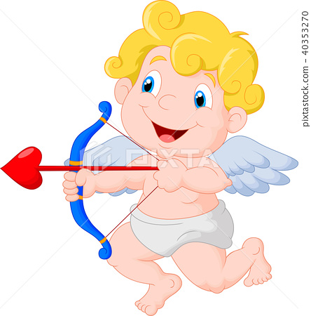 Funny little cupid aiming at someone 40353270
