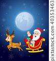 cartoon moon reindeer 40353463