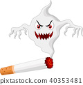 Cigarette with monster in smoke 40353481