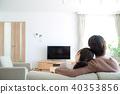 คู่รักกำลังดูทีวี 40353856