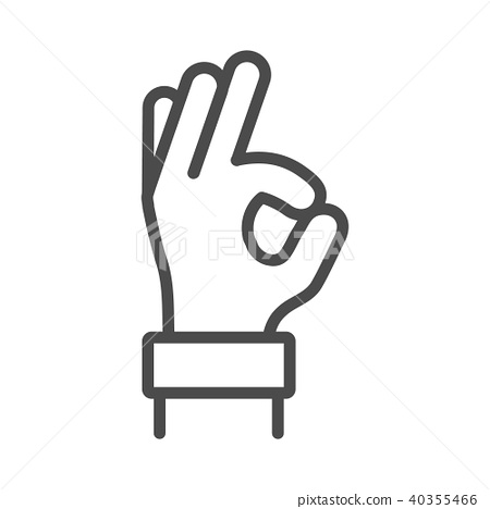 Okay Hand Outline Line Icon Vector Ok Symbol Stock Illustration 40355466 Pixta Free icons of hand outline in various design styles for web, mobile, and graphic design projects. https www pixtastock com illustration 40355466