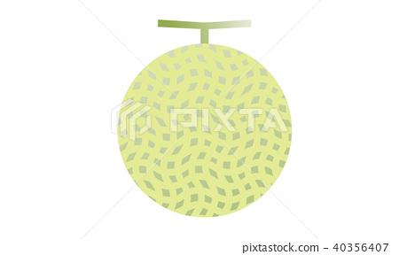 Illustration of melon 40356407