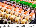 Japanese food, assortment of maki sushi rolls 40358628