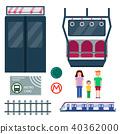 Metro station transportation modern railroad trip transit tunnel vehicle service vector illustration 40362000