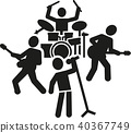 Rock band pictogram 40367749