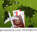 vector, world, travel 40368674