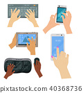 Users hands on keyboard computer touch gestures technology internet work swipe typing tool vector 40368736