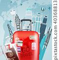vector, travel, illustration 40368813