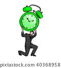 businessman holding big retro alarm clock 40368958
