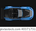 Modern blue sports convertible. Open car with tuning. 3d rendering. 40371731